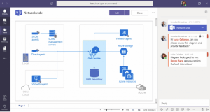 Visio with comment pane