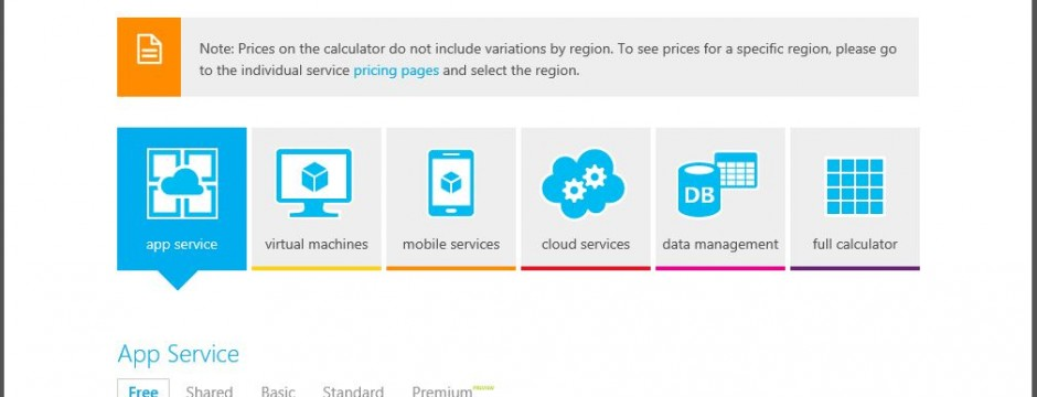 Cgnet Services Azure Pricing Calculator Archives  Cgnet Services