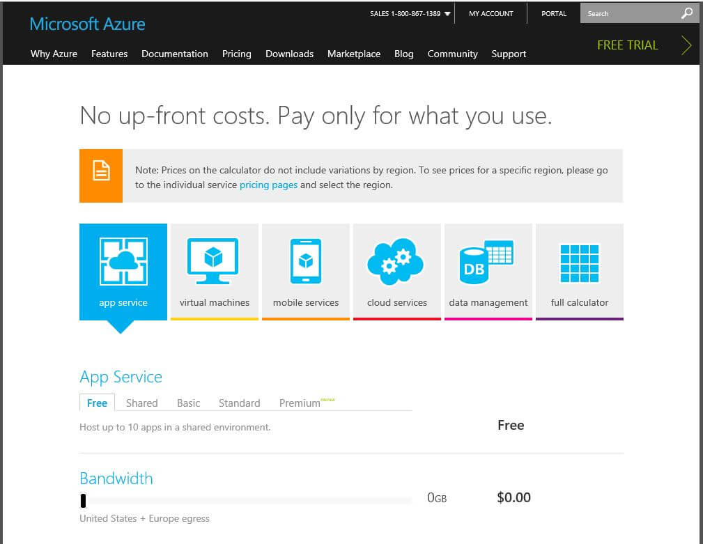 cgnet services azure pricing calculator estimate your bill before