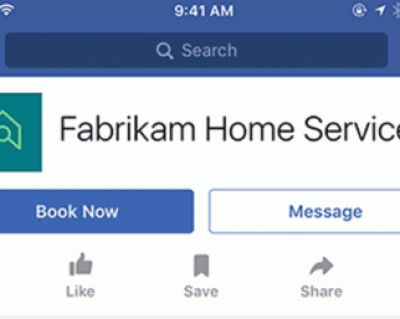 Microsoft Bookings for Facebook Business Page