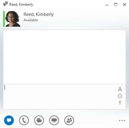 Kim Lync client window