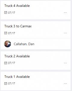 Planner task board view