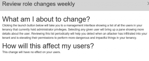Office 365 role group status changes