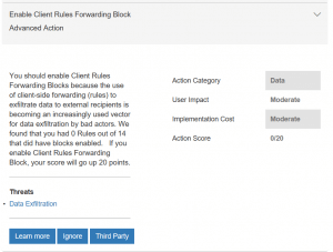 Client Email Forwarding Rules Block Explanation