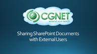 Sharing SharePoint Documents with External Users