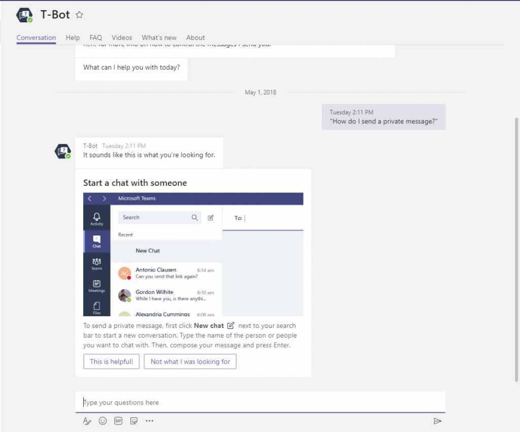 Microsoft Teams: T-Bot
