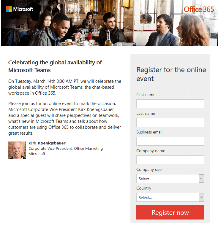 Microsoft Teams Online Event