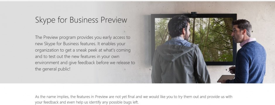 skype for business preview